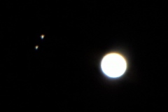 Jupiter with Calisto and Ganymede from Heather D